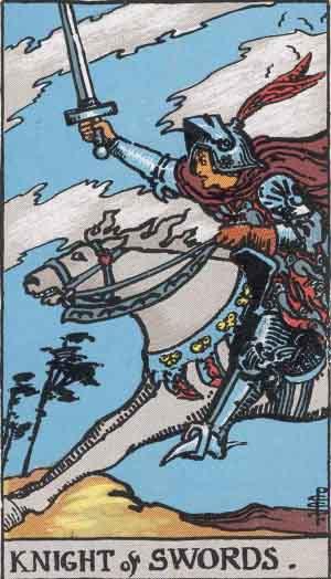 cavaliere di spade,tarocchi