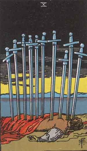 Dieci di Spade, Arcano Minore dei Tarocchi