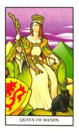 Regina di Bastoni - Mazzo Tarocchi Connolly
