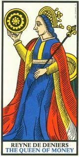 Regina di Denari - Mazzo Tarocchi Marsiglia o marsigliese