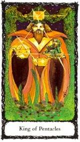 Re di Denari - Mazzo Tarocchi Sacred Rose