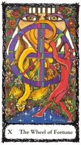 Ruota della Fortuna -  Mazzo Tarocchi Sacred Rose
