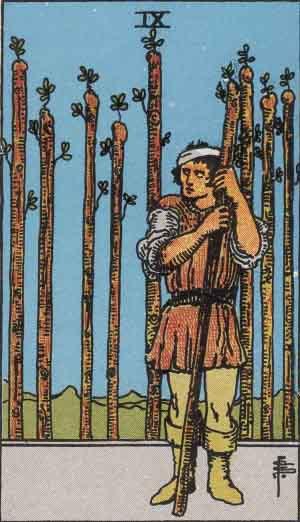 Nove di Bastoni, Arcano Minore dei Tarocchi
