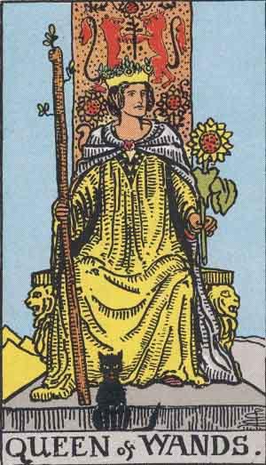 regina di bastoni,tarocchi