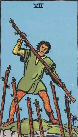 Sette di Bastoni, Arcano Minore dei Tarocchi