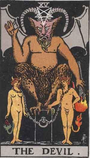 Il Diavolo - Mazzo Tarocchi Rider Waite