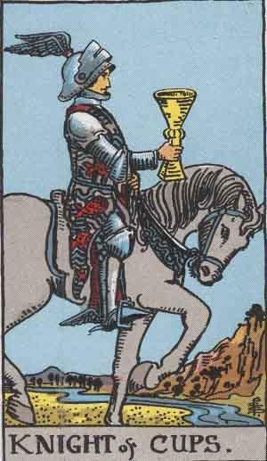 Cavaliere di Coppe - Mazzo Tarocchi Rider Waite