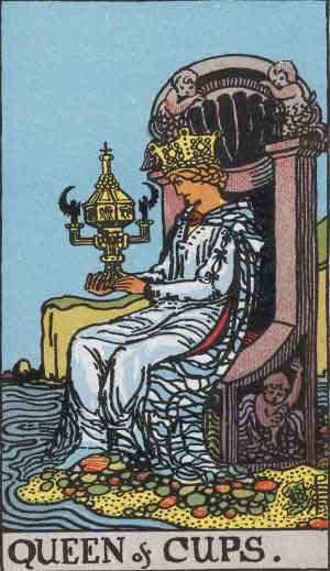 Regina di Coppe - Mazzo Tarocchi Rider Waite