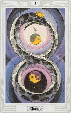 Due di Denari Tarocchi Crowley Thoth