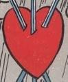 Il simbolo del Cuore nel Tre di Spade