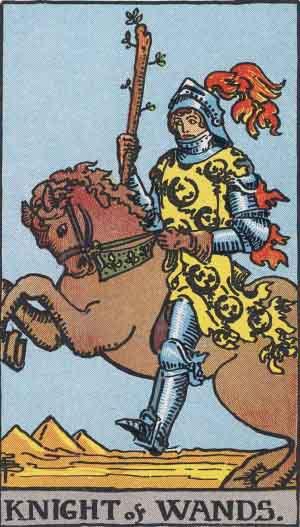 cavaliere di bastoni,tarocchi