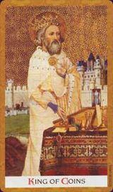 Re di Denari - Mazzo Tarocchi Golden