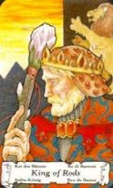 Re di Bastoni - Mazzo Tarocchi Hanson Roberts