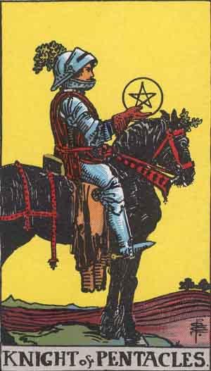 Cavaliere di Denari - Mazzo Tarocchi Rider Waite